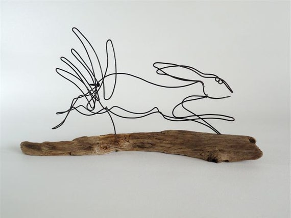 Bunny Wire Sculpture