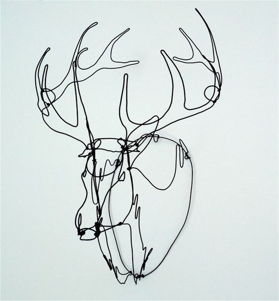 Trophy Stag Wire Sculpture