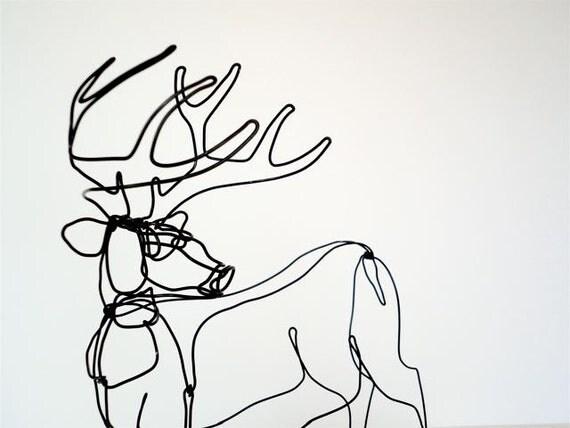 Deer Wire Sculpture