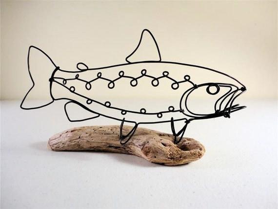 Trout Wire Sculpture