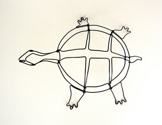Turtle Wire Sculpture