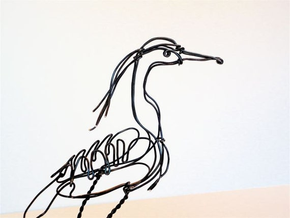 Heron Wire Sculpture