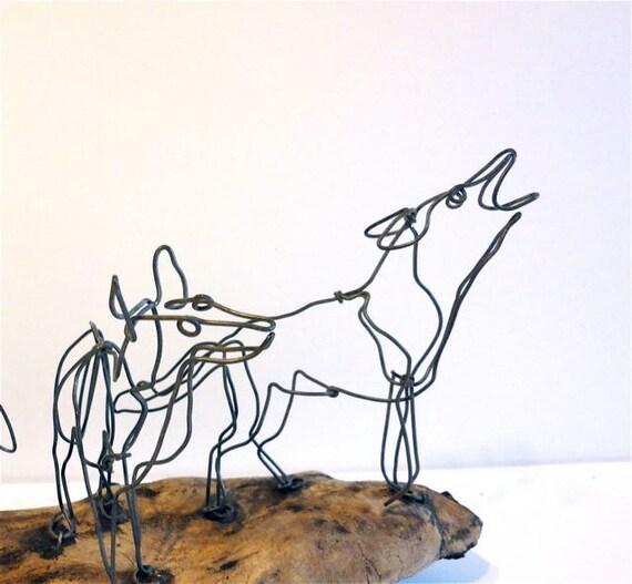 Wolf Wire Sculpture
