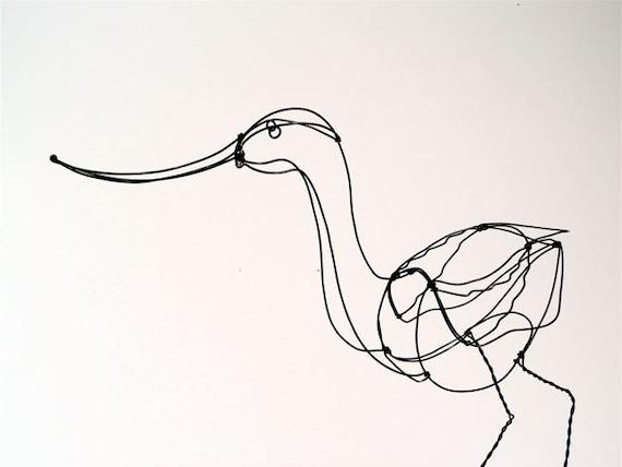 Avocet Wire Sculpture