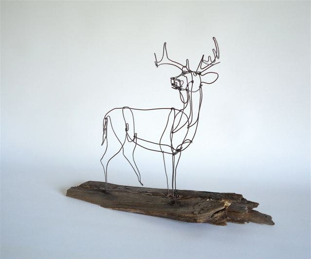 Deer wire sculpture for How to make a wire sculpture