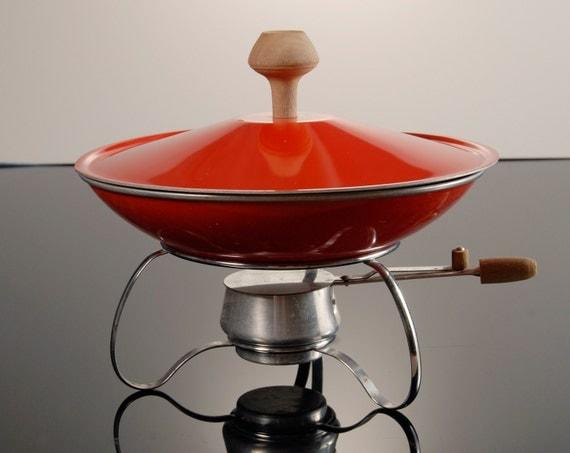 Chafing Dish Wok in Orange