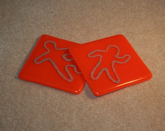 Crime Scene Coasters - made to order in any colour
