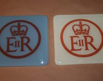 Queen Elizabeth's Diamond Jubilee Coasters - Made To Order In Any Colour