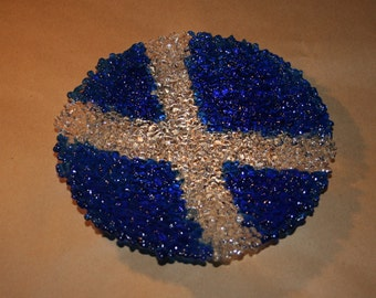 Textured Scottish Saltire Flag Bowl - Made to Order