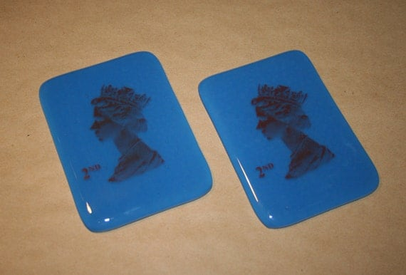 Queen Elizabeth Stamp Coasters - 1st Class and 2nd Class Available