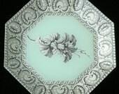 Mint Green Decoupage Plate