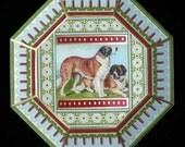 St. Bernards Decoupage Plate