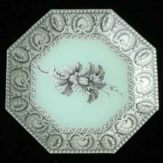 Mint Green Decoupage Plate