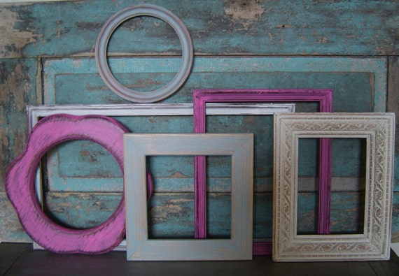 Girly Girl Shabby Chic Picture Frame Gallery Collection