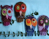 Crazy Owl - Crochet Pattern (Applique)