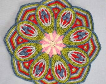 Crochet Overlay Mandala No. 2  - Pattern - PDF in English, Deutsch