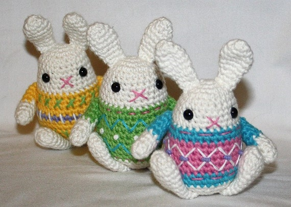 Crochet Patterns Easter Bunny : Little Easter Bunny crochet pattern Amigurumi by CAROcreated