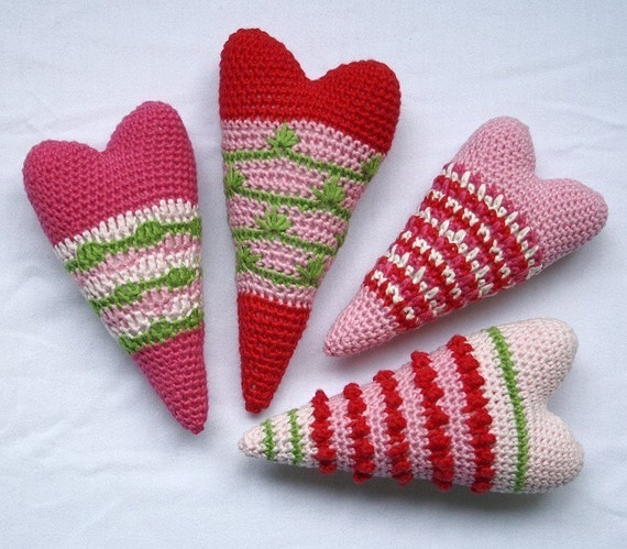 Heart x4 - Crochet Pattern