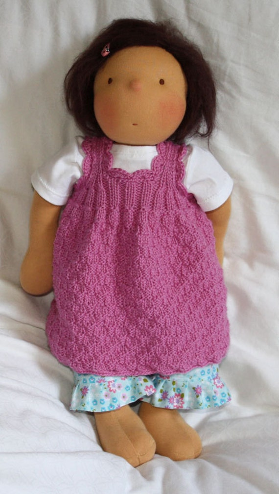Items similar to Knitting Pattern for the Doll Dress JULIE ...
