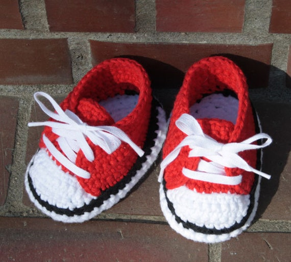 Baby Sneakers, Baby Chucks, All Star, Baby Booties - Crochet pattern