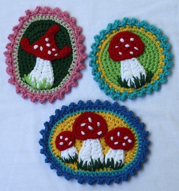 Red Mushroom Pattern fabric by papersparrow for sale on