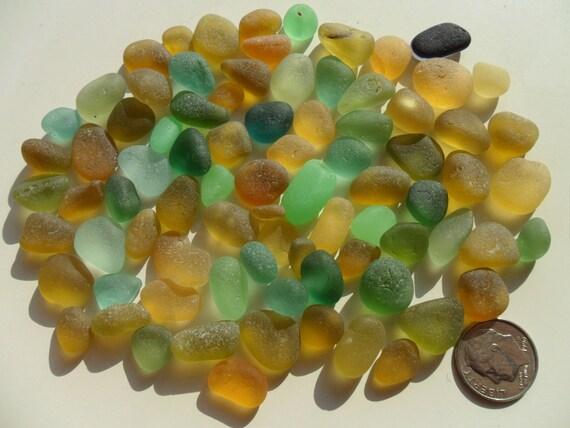 Small Stones Chips  - Beautiful English Sea Glass - FREE SHIPPING (1750)