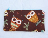 Zipper Glasses or Pencil Case - Owls