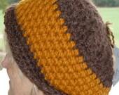 Bohemian Accessories Brown Orange Hat
