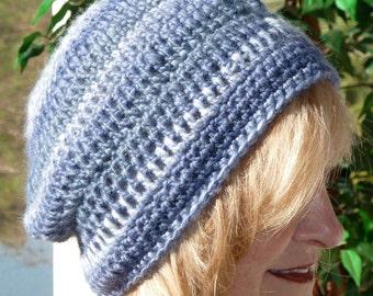 Bohemian Hat Blue Crochet