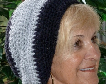 Slouchy hat women's fashion ski accessories crochet winter hat