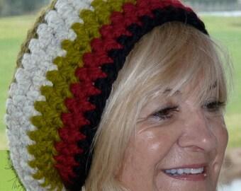 Slouchy crochet hat women's fashion bohemian accessories women's winter hat