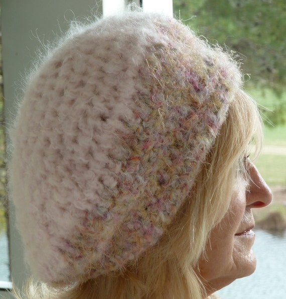 Pink Crochet Hat Women Winter European Slouch Tam Original