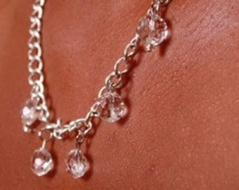 Five Crystal Chain Necklace