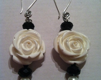 The White Rose Earrings