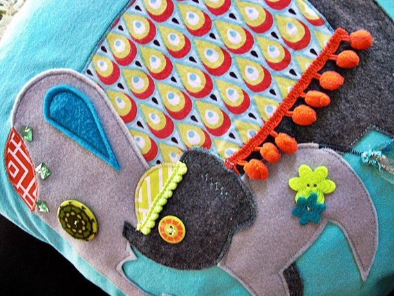 Modern Applique Nursery Pillow