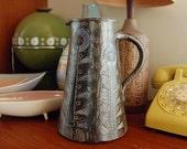 Koln Weber Keramik German Scandinavian Floral Style Pitcher