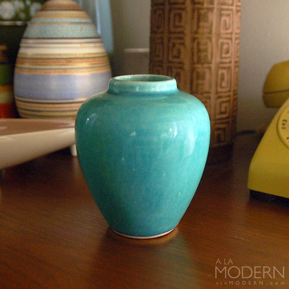 Nelson McCoy Small Blue Teal Vase
