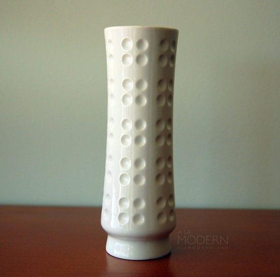 Schumann Arzberg German Op-Art Porcelain Vase Bavaria