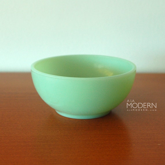 Jadeite Fire King Chili Cereal Bowl Glass