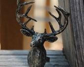 Deer Ring Woodland Fantasy Whimsical Huge Deer Antler Silver