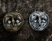 Woodland Fantasy Whimsical 'Night Owl' Necklace ooak