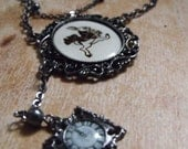 SALE - i'm late, i'm late - Wonderland inspired necklace