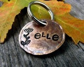 Elle Custom Pet ID Tag, in 3/4'' Brushed Bronze