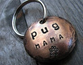 Pug Mama - Dog Lover Keychain... the perfect gift for Pug lovers
