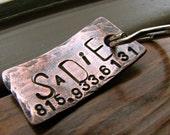 Custom Dog Tag / Cat Tag - Sadie - in Weathered Copper