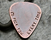 Custom Guitar Pick in Copper - Personalized Gift for Dad, Husband or Boyfriend