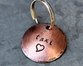 Pet ID Tag in 1'' Copper - Customize Your Own - Pick the Font & Stamp