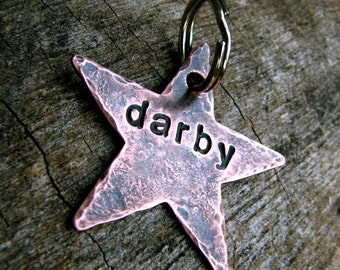 Darby Custom Star Pet ID Tag, in Copper
