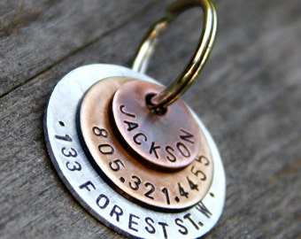 Custom Pet ID Tag - Jackson - in Layered Mixed Metal, as featured in Martha Stewart Living