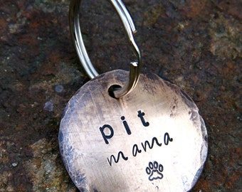 Custom Dog Lover Keychain - Pit Mama ... a perfect gift for Pitbull lovers (or customize with your breed)